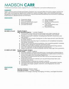 Resume Sample For Designers Best Graphic Designer Resume Example From Professional