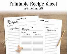 receipt book template pdf recipe sheet printable recipe page template blank recipe