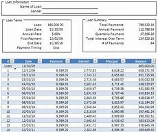Payment And Amortization Calculator Simple Loan Amortization Schedule Calculator In Excel