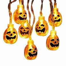 Jack O Lantern Lights Battery Halloween String Lights 16 5ft 40leds 3d Jack O Lantern