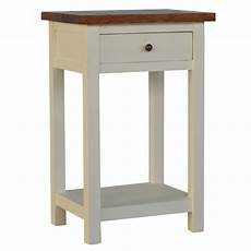 solid mango acacia wood 2 tone 1 drawer 1 shelf bedside
