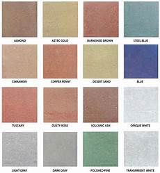 Stained Concrete Colors Chart Water Based Concrete Stain Color Chart