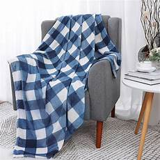 buffalo plaid flannel fleece blanket size soft fuzzy