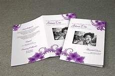 Printable Funeral Programs Purple Flower Funeral Program Template Printable Memorial