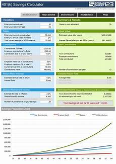 Bloomberg 401k Calculator 401 K Savings Calculator Free For Excel