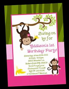 Monkey Birthday Invitations Monkey Birthday Invitation Twins Or Sibling By Onewhimsychick
