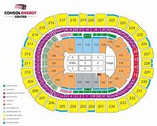 Seating Chart Of Ppg Paints Arena Consol Energy Center Seating