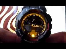 G Shock Light Button Casio G Shock Ga 100 How To Change Time And Auto Light