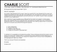 Counselor Cover Letter Samples Residential Counselor Cover Letter Sample Cover Letter