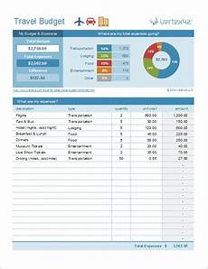 Travel Budget Spreadsheet Travel Budget Worksheet Travel Cost Estimator