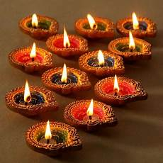 Designer Diyas Hand Painted Diwali Diyas Homemade Decorative Diyas