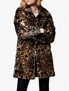 animal coats millen longline animal print faux fur coat leopard