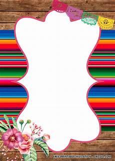 Fiesta Border Template Free Fiesta Party Birthday Invitation Templates Bagvania