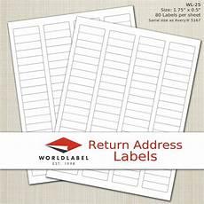 Avery Label Template 8167 Laser Labels 1 75 X 0 5 Quot 20000 Return Address Labels
