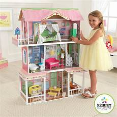 Barbie Doll House With Lights Barbie Wooden Dollhouse With Furniture Size Girls