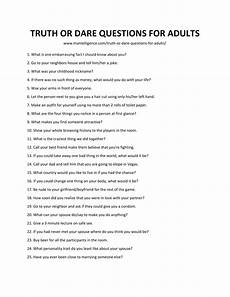 Truths To Ask Truth Dare Questions For Adults Truth Or Dare