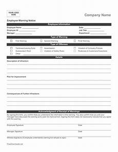 Work Write Up Forms Download Employee Write Up Form Pdf Rtf Word