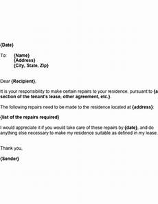 Letter To Landlord Requesting Repairs Template Request For Landlord Repairs Template