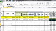 Cash Flows Chart Create Gantt Chart And Cash Flow Using Excel Youtube