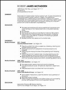 Sample Medical Resume Free Traditional Medical Assistant Resume Template