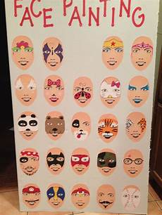 Face Painting Chart Pin By Dhingra On Pickles Easy Face Painting
