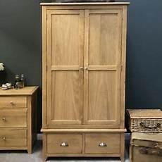 oak 2 door wardrobe wardrobe solid wood with
