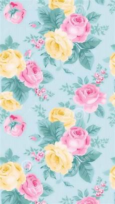 Modern Flower Wallpaper For Iphone by Retro Modern Aqua Floral Wallpaper Iphone