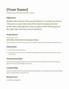 Microsoft Free Resume Template 45 Free Modern Resume Cv Templates Minimalist Simple