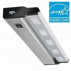 lithonia brushed nickel 18 quot led cabinet light swivel