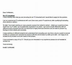 Cover Letter Consultant It Consultant Cover Letter Example Icover Org Uk