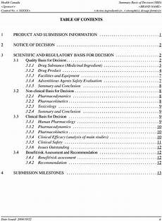 Example Of Table Of Content Example Of Table Of Contents In A Summary Basis Of