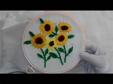 embroidery sunflower stitch