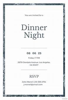 Dinner Invites Templates Free Free Sample Dinner Invitation Template In Adobe