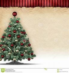 Blank Christmas Christmas Background Tree And Blank Space For Text Stock