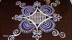 Color Kolam Designs With Dots Latest Color Padi Kolam Rangoli Designs With 5 Dots Easy