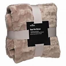 faux fur throw mink large 150cmx200cm 163 16 wilko living