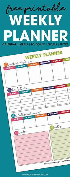 Best Monthly Planner Free Printable Weekly Planner Calendar Meals To Do