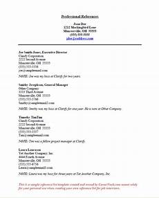 Writing References On A Resumes References Sample How To Create A Reference List Sheet