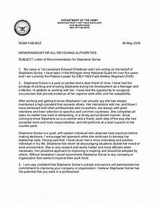 Ocs Letter Of Recommendation Example Letter Of Recommendation 1