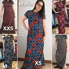 Marina Dress Size Chart Lularoe Dress Worn In Different Sizes Lula Roe