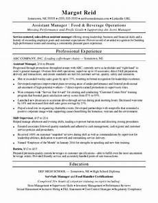 Asst Manager Resume Assistant Manager Resume Monster Com