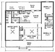 cabin style house plan 3 beds 2 baths 1277 sq ft plan