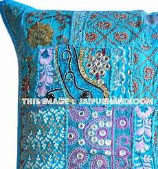 24x24 quot stitched pillows indian style ethnic