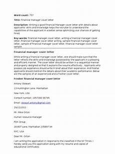 Sample Cover Letter For Finance Manager Position Financial Manager Cover Letter Corrected