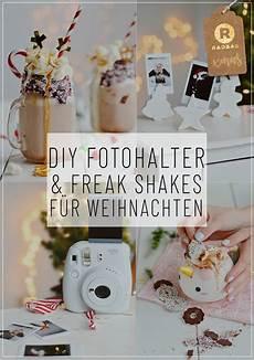 diy weihnachtsgeschenke freak shakes und fotohalter