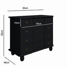 anthracite grey 4 drawer chest of drawers bedside