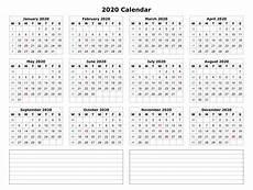 2020 17 Blank Calendar 2020 One Page Calendar Printable Calendar 2020