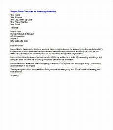 Thank You For Interview Letter Template Thank You Letters After An Interview 8 Free Word Pdf
