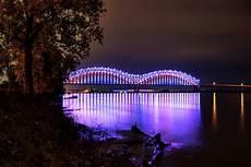 Hernando De Soto Bridge Lights Mighty Lights Of The Hernando Desoto Bridge 001 Photograph