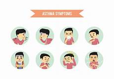 Asthma Signs And Symptoms Asthma Symptoms Download Free Vectors Clipart Graphics